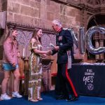 The Lord Lieutenant making presentations in Chester Cathedral