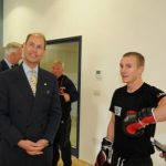HRH The Earl of Wessex with Paul Butler Super flyweight Champion