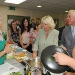 The Prince of Wales and the Duchess of Cornwall visiting the Countess of Chester Hospital