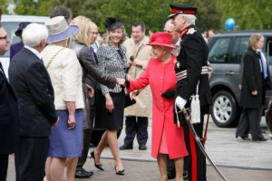 Vice Lord Lieutenant in attendance with the Queen and the Duke of Edinburgh