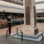 David Briggs at the Cenotaph in Winsford