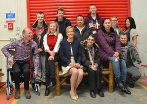 HRH The Countess of Wessex with disabled group