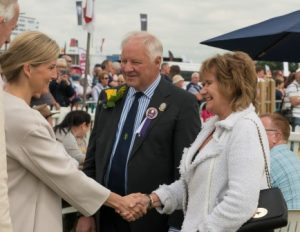 HRH The Countess of Wessex President of Cheshire Show Mr Tony Garnett DL Mrs Pamela Garnett
