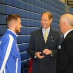HRH The Earl of Wessex at Sports EP Sports Village B.Rudd