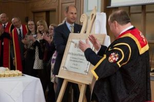 HRH The Earl of Wessex at Plaque University of Chester unveiling a plaque
