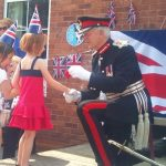 Lord Lieutenant with Jubilee girl