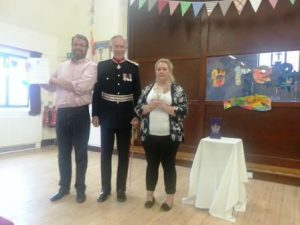 The Lord Lieutenant presents The Queens Award for Voluntary Service