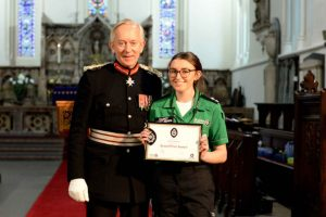 Cadet with the Lord Lieutenant