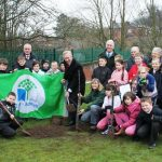 The Lord Lieutenant at Daven Primary School Jubilee tree planting