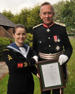 The Lord Lieutenant with Georgia Flynn