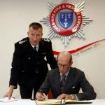 HRH Duke of Kent at Cheshire Fire and Rescue Headquarters