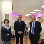 Lord Lieutenant visiting Leighton Hospital