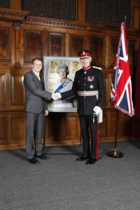 Mr Adam Forshaw with the Lord Lieutenant