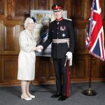 Mrs Ethel Thompson with the Lord Lieutenant