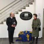 Princess Anne at the Tactical training centre